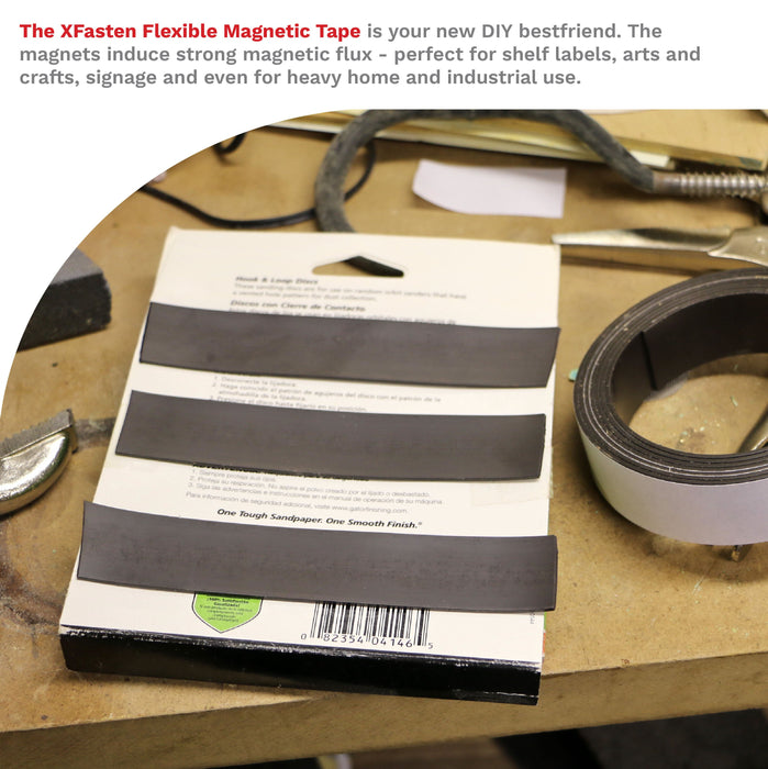 XFasten Magnetic Tape, 1-Inch x 6-Foot - XFasten