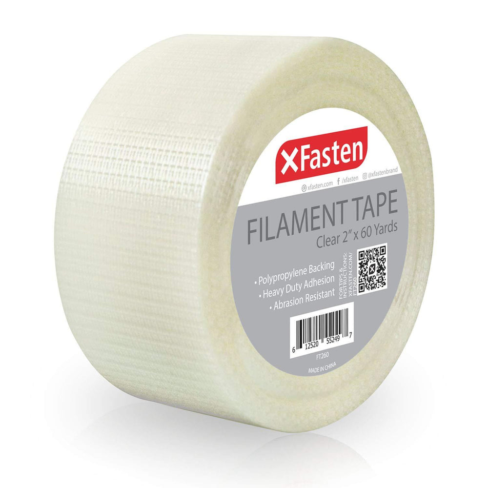 XFasten Filament Tape, 2 Inch by 60 Yards