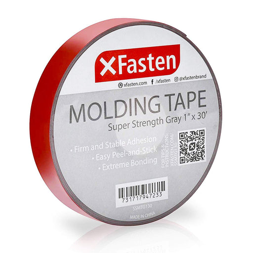 XFasten Molding Tape, Gray, 1-Inch x 30-Foot