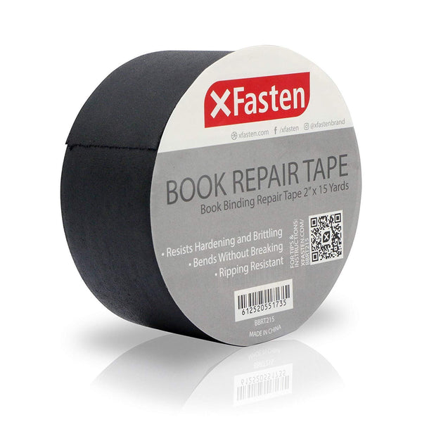 XFasten Book Binding Repair Tape, Black, 2-Inch by 15-Yard