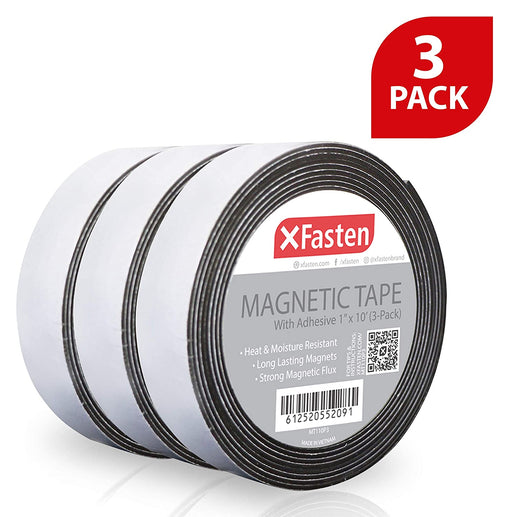 "XFasten Magnetic Tape 1""x10' Pack of 3"