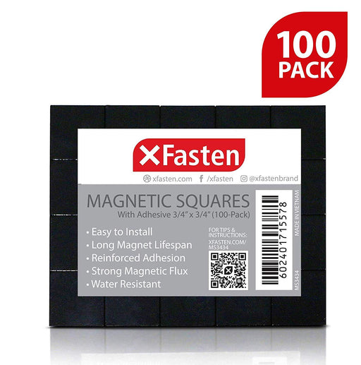 XFasten Magnetic Squares 3/4-Inch x 3/4-Inch (Set of 100)