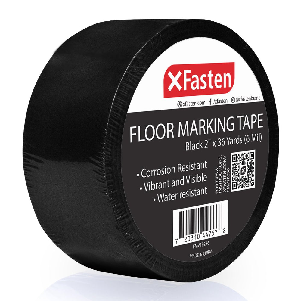 XFasten Floor Marking Vinyl Tape, 2 Inches x 36 Yards 6 Mils Thick - XFasten