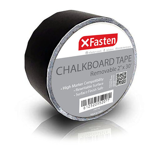 XFasten Black Chalkboard Tape, 2-Inch x 30-Foot