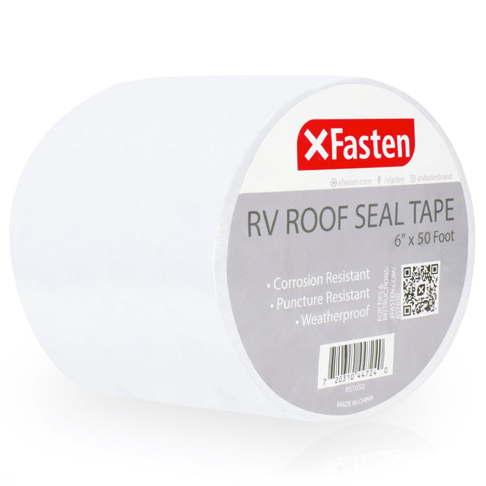 XFasten RV Roof Seal Tape, 6-Inches x 50-Foot