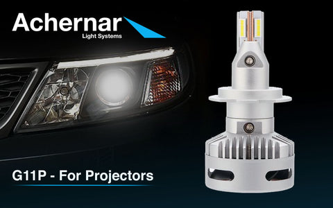 Achernar Light Systems H7 Led 72watt 6400 Lumen +330% For Linser - 2stk