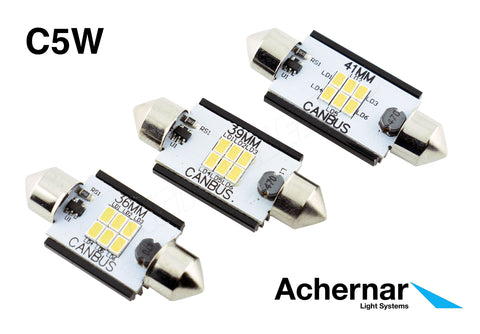 Achernar C5W 36/39/41mm Led 6000K Canbus 9-32V - 2stk