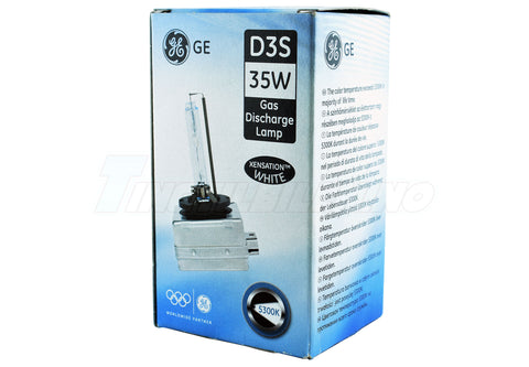 D3S 35W GENERAL ELECTRIC WHITE Xensation 5300K +20% Xenon 1stk.