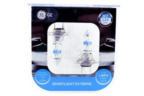 H7 12V 55W PX26D SportLight EXTREME +40% 5000K 2stk GENERAL ELECTRIC