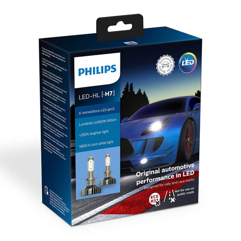 H7 PHILIPS X-TREMEULTINON LED GEN2 5800K +250% PH11972XUWX2
