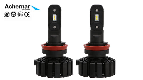Achernar Light Systems H8/9/11 Led 6000k 60watt 5000 Lumen +300% 2019Mod - 2stk