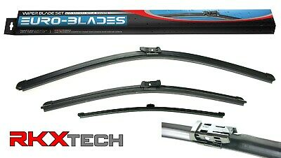 RKX Front + Rear Windshield Wiper Blades set of 3 fit. FOR AUDI Q5 Factory Fit