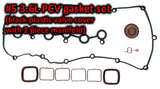 RKX 3.6L PCV valve and gasket 03H133237G 03H 133 237J set for 2 piece manifold CC Passat Touareg