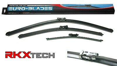 EURO-BLADES  Front + Rear Windshield Wiper Blades Set 24 + 22 + 14 for VW Tiguan