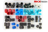 X-KOOL R134A / R12 Master valve core cap kit for Domestic, Import, and European Cars