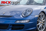 RKX vinyl  headlight wrap black out  trim for porsche carrera 911 997  turbo gt