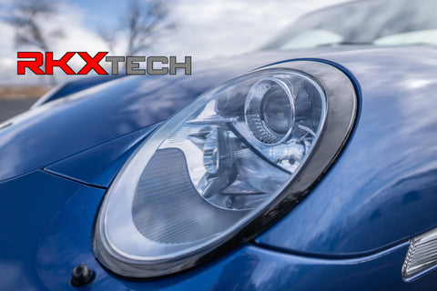 RKX sport classic look headlight vinyl trim for porsche carrera 911 997