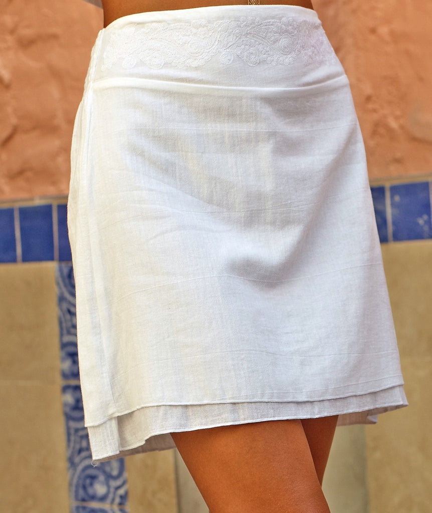 A350 Short Skirt Embroided