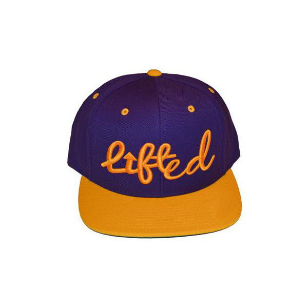 Purple and Gold Lifted Snapback