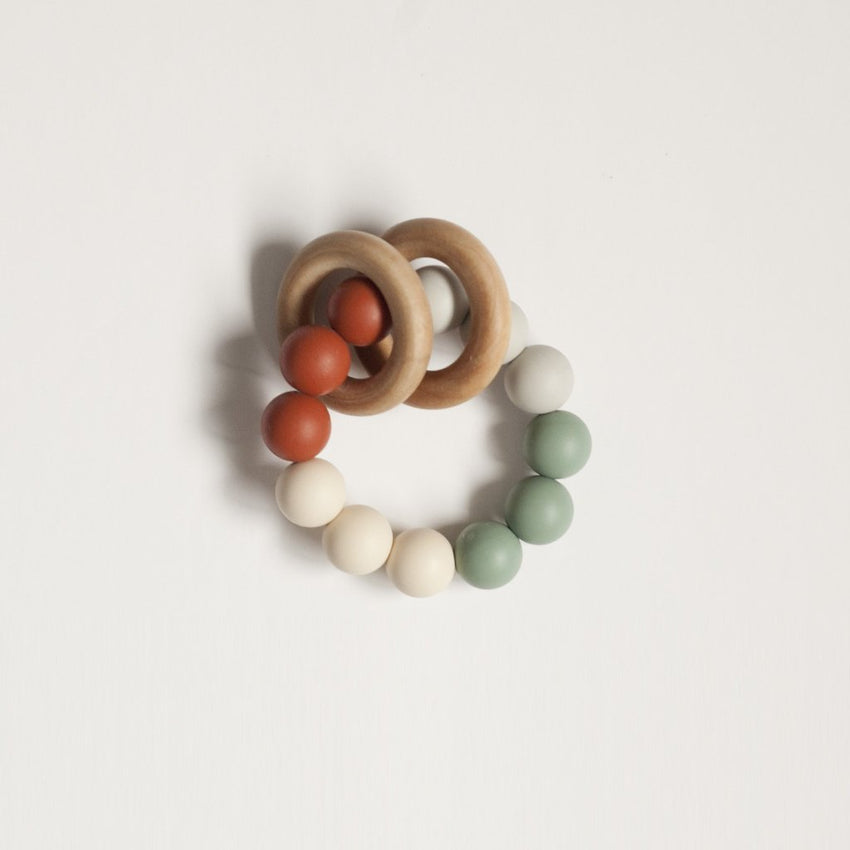 The Charlie - Teething Ring // Ginger + Sea Glass