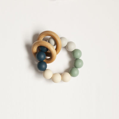 The Charlie - Teething Ring // Sea Glass + Midnight