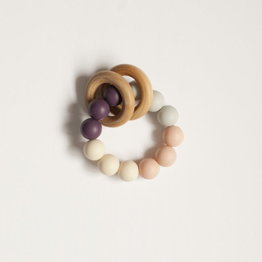 The Charlie - Teething Ring // Eggplant + Blush