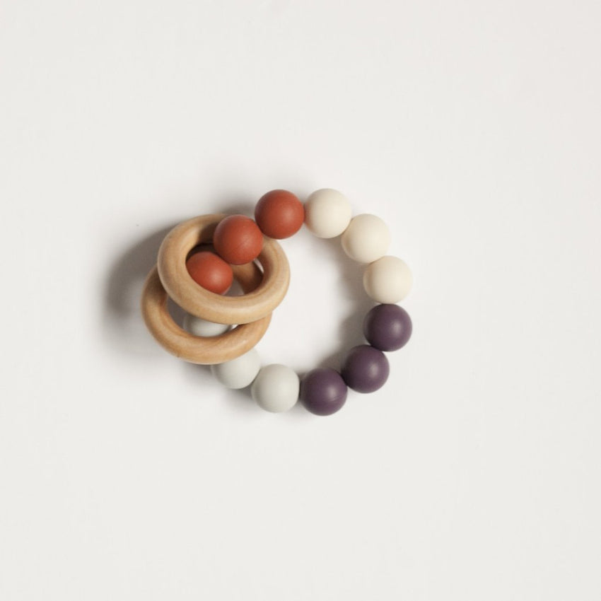 The Charlie - Teething Ring // Eggplant + Ginger