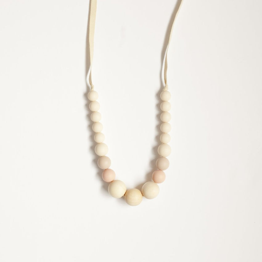 The Emma - Teething Necklace // Cream + Blush