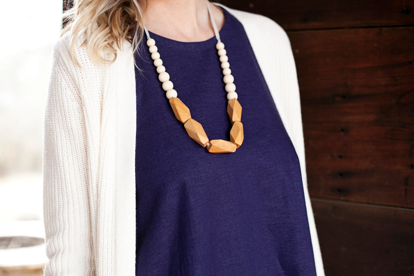 The Annie - Teething Necklace // Cream