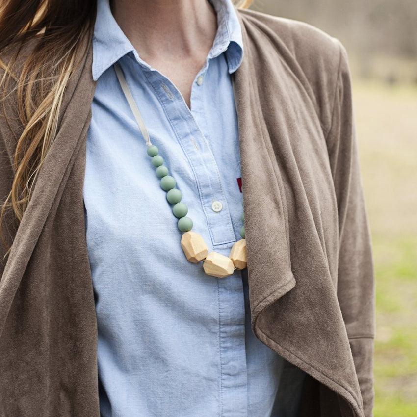 The Story - Teething Necklace // Sea Glass