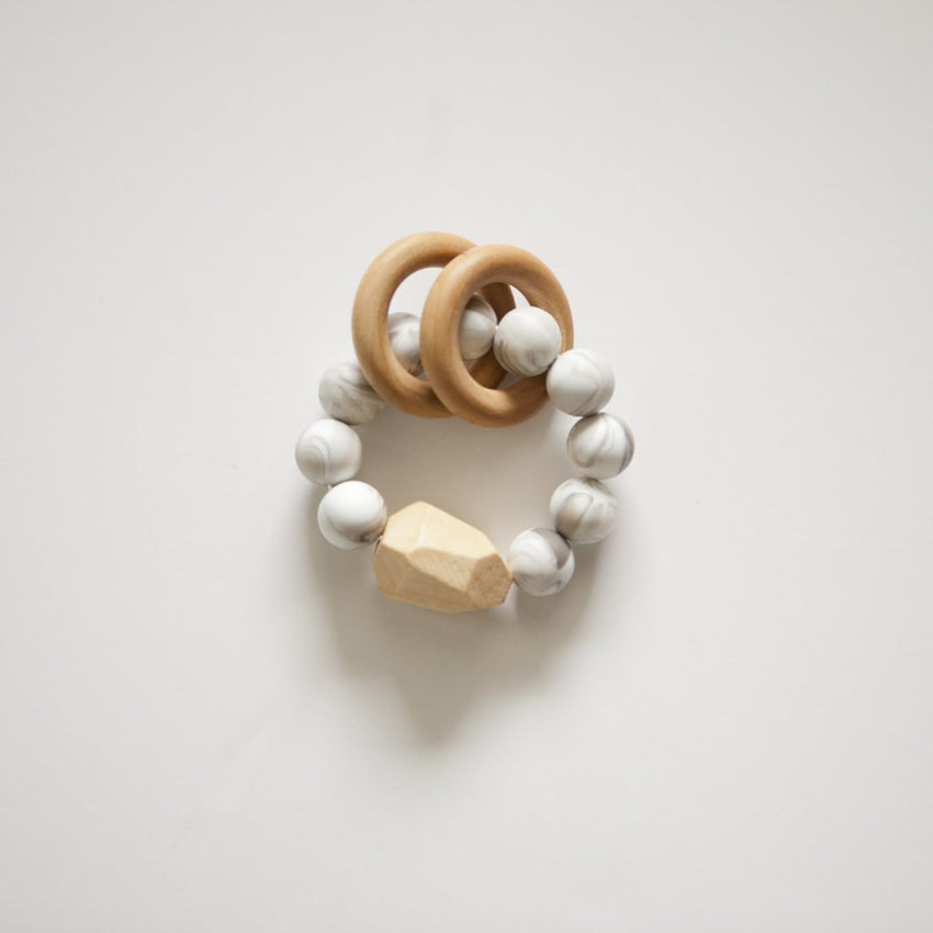 The Henry - Teething Ring // Marble