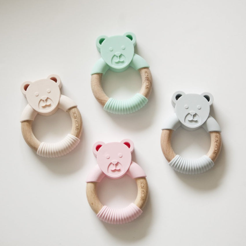 Woodland Friends - Teething Ring // Bear