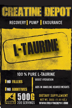 Creatine Depot L Taurine 500 grams