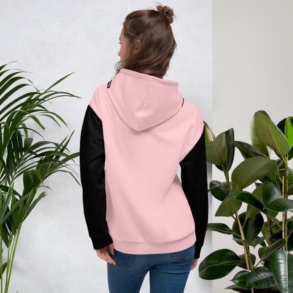 X Color Pink/Black Peach Blossom Unisex Hoodie - Roc Out