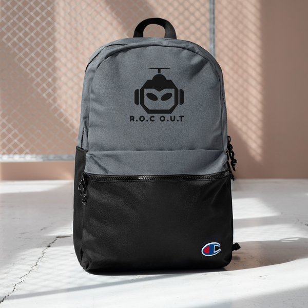 Embroidered Champion Backpack - Roc Out