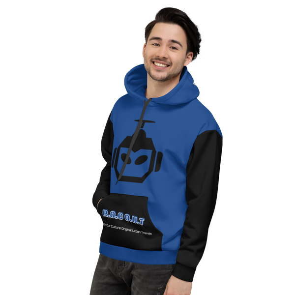 X Color Blue/Black Grim Water Unisex Hoodie - Roc Out