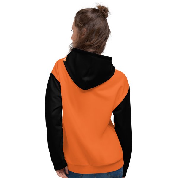 X Color Orange/Black Pumpkin Spice Unisex Hoodie - Roc Out
