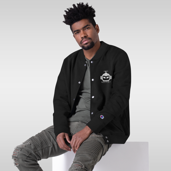 Embroidered Champion Bomber Jacket - Roc Out