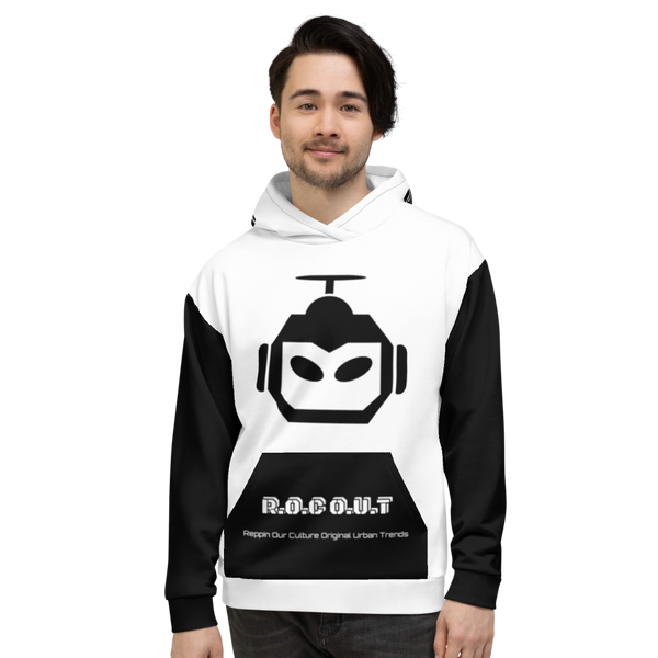 X Color White/Black Crispy Classic Unisex Hoodie - Roc Out