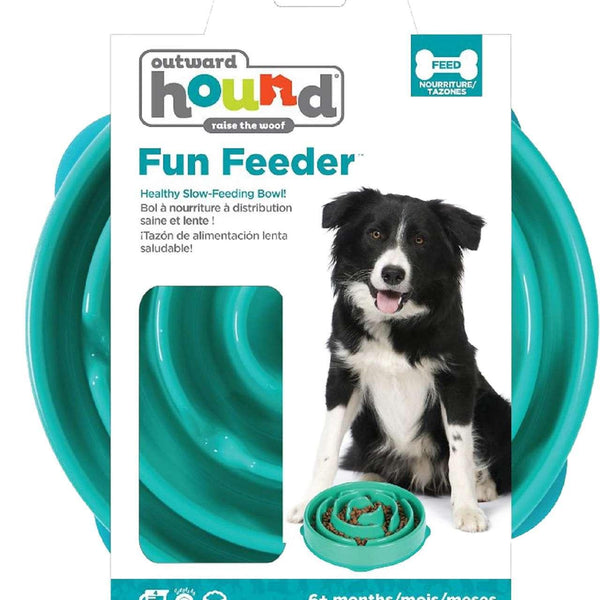 Outward Hound Fun Feeder Drop Teal Mini