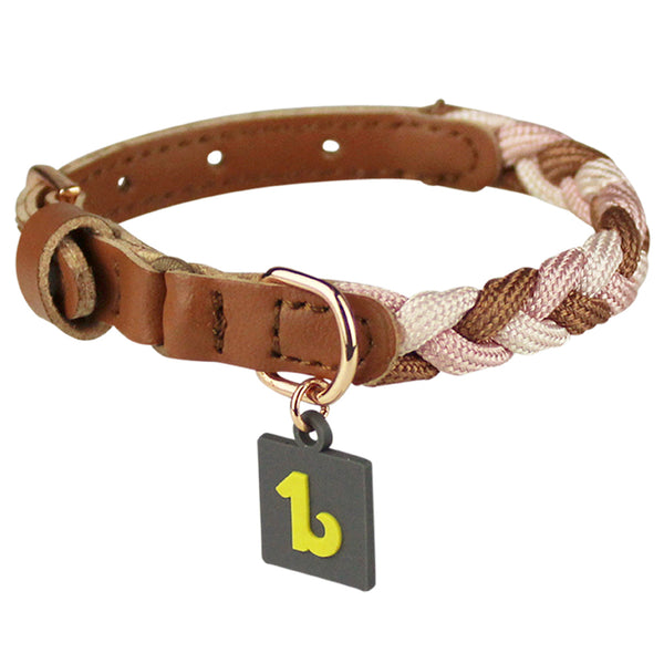 Be One Breed Braided Cat Collar with Safety Elastic
