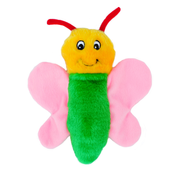 ZippyPaws Crinkle Squeaker Toy Butterfly