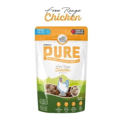All Nature Pure Freeze Dried Dog Treats Chicken 25G