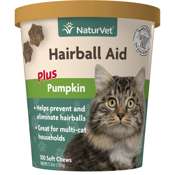 Soft Chew Hairball Pumpkin 100CT | Cat