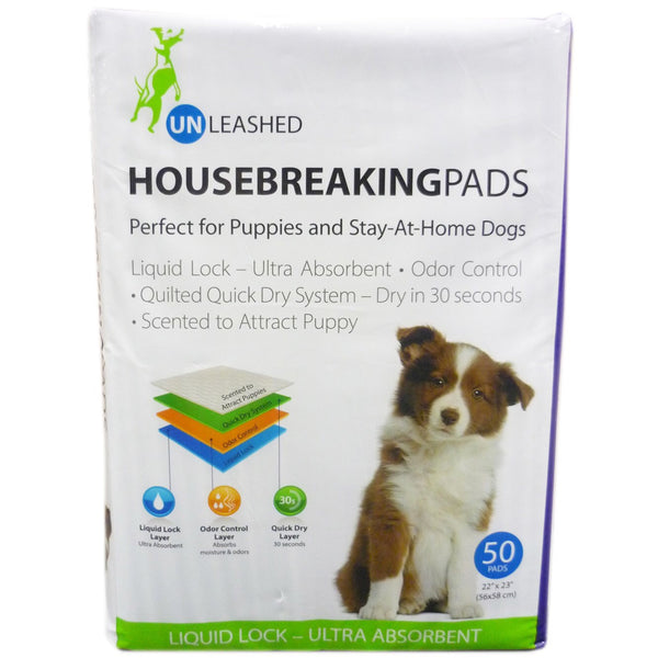 Unleashed Housebreaking Pacs 50pk