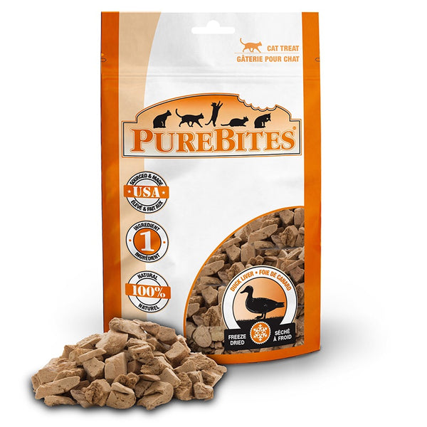 Pure Bites Duck Liver Freeze Dried Cat Treats, 16g