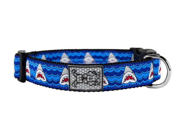 "RC Pets Clip Collar Medium 12""-20"" - Shark Attack"