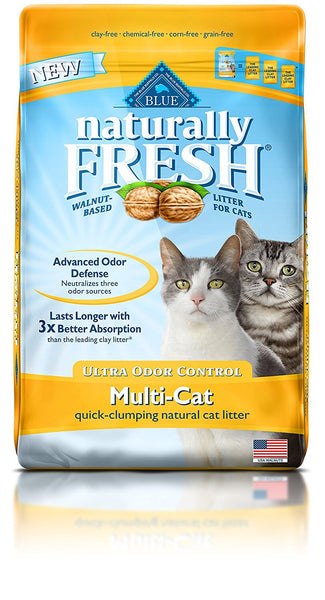 Blue Buffalo Naturally Fresh Walnut Cat Litter  14 lbs