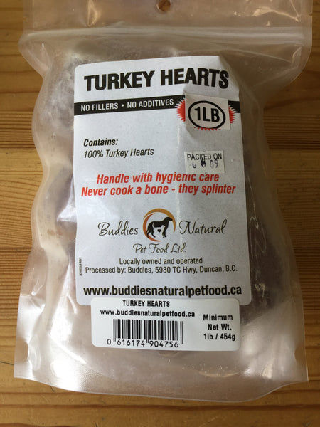 Buddies Turkey Hearts 1 lb bag