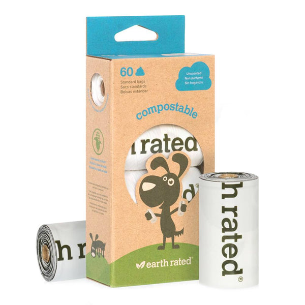 Earth Rated Compostable Poop Bags 4 pk (60 bags)